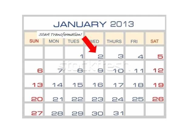 Calendar January 2 Transformation Start